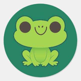 Cute Little Green Frog Sticker