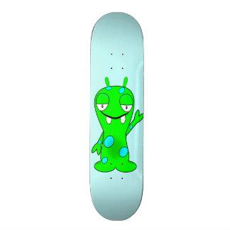 Cute Little Green Monster, Waving 20 Cm Skateboard Deck