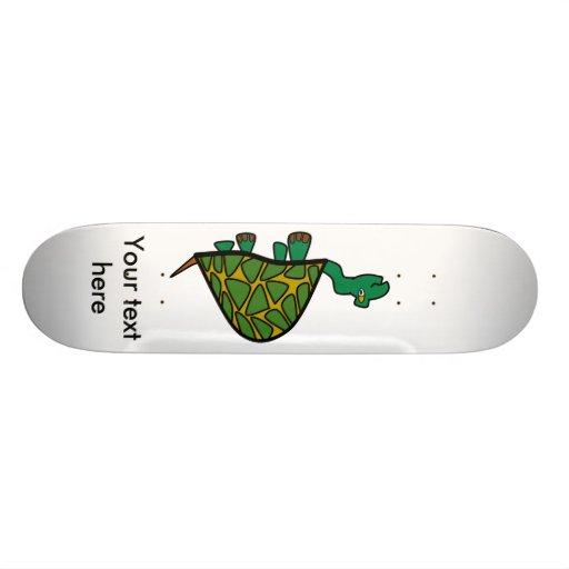 Cute little green turtle skateboard