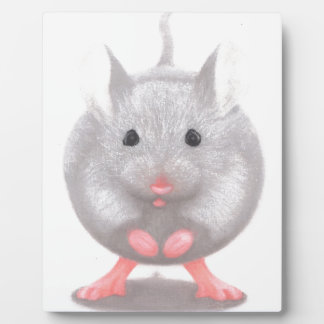Cute Little Grey Mouse Display Plaque