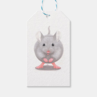 Cute Little Grey Mouse Gift Tags