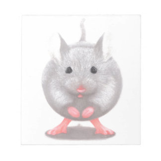 Cute Little Grey Mouse Notepad