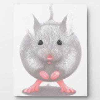 Cute Little Grey Mouse Plaque