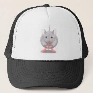 Cute Little Grey Mouse Trucker Hat