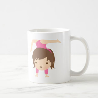 Cute Little Gymnast Girl Gymnastics Pose Coffee Mug