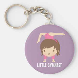 Cute Little Gymnast Girl Gymnastics Pose Key Ring