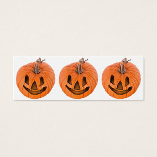 Cute Little Halloween Jack-o-Lanterns Mini Business Card