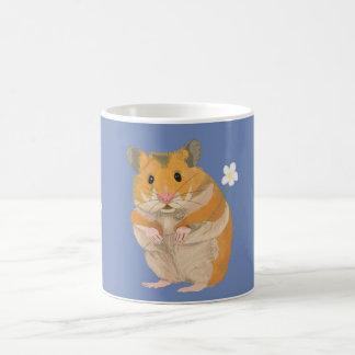 Cute little Hamster holding a flower Coffee Mug