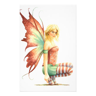 Cute little Hawthorn Fairy by Scot Howden Customized Stationery