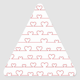 Cute little hearts triangle sticker