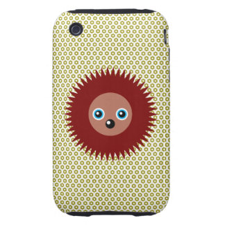 Cute little hedgehog iPhone 3 tough case