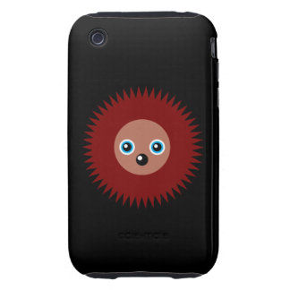 Cute little hedgehog iPhone 3 tough cases