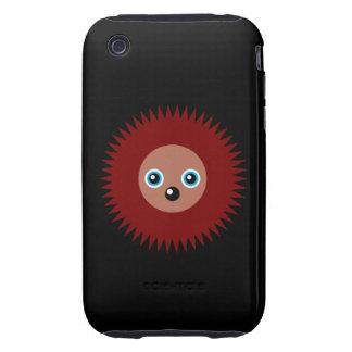 Cute little hedgehog iPhone 3 tough cases