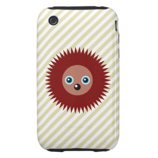 Cute little hedgehog tough iPhone 3 cover