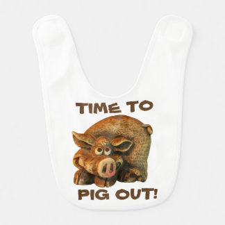 Cute little Hog Time To Pig Out Bib