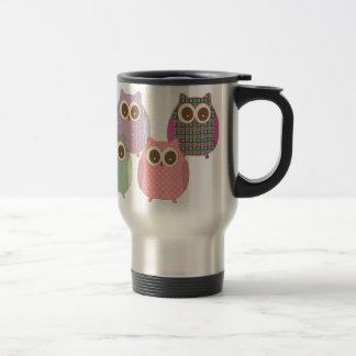 Cute Little Hoot Owls Assorted Colors Stainless Steel Travel Mug
