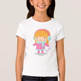 Cute Little Ice Skater Girl For Kids T-Shirt