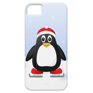 Cute Little Ice Skating Cartoon Penguin Case For The iPhone 5