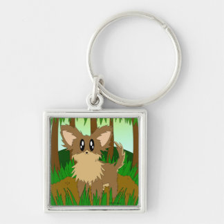 Cute Little Jungle Forest Puppy Dog Key Chain