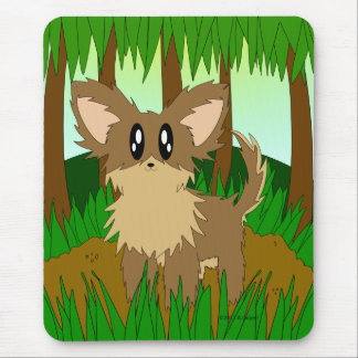 Cute Little Jungle Forest Puppy Dog Mousepad