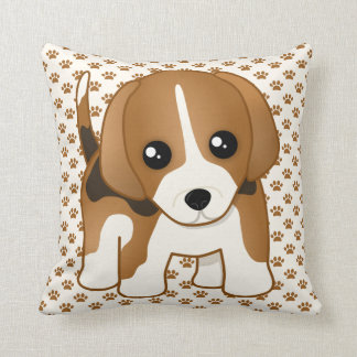 Cute Little Kawaii Beagle Puppy Dog Cushion