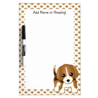 Cute Little Kawaii Beagle Puppy Dog Dry Erase Whiteboard