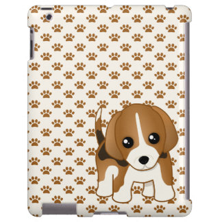Cute Little Kawaii Beagle Puppy Dog iPad Case