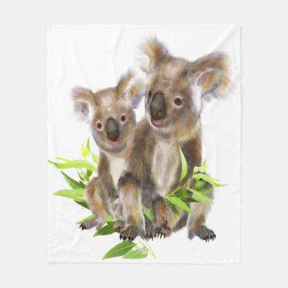 Cute Little Koala Bear Australian Animal Art Fleece Blanket