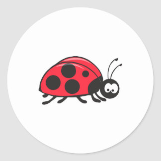 cute little ladybug classic round sticker