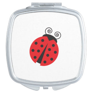 Cute Little Ladybug Makeup Mirror
