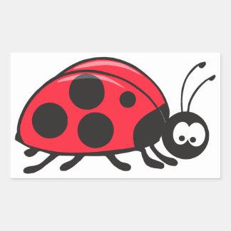 cute little ladybug rectangular sticker