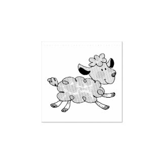 cute little lamb rubber stamp