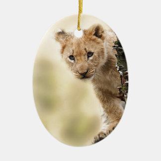 CUTE LITTLE LION CUB RANGE CHRISTMAS ORNAMENT
