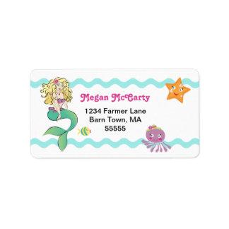 Cute Little Mermaid Address Label