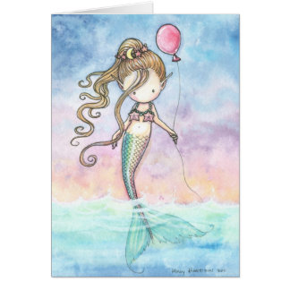 Cute Little Mermaid Birthday Card