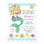 Cute Little Mermaid Custom Invitations