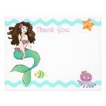 Cute Little Mermaid Note Card 2 Custom Invite