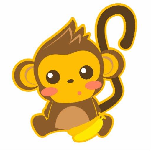 Cute Little Monkey Acrylic Cut Outs Zazzle