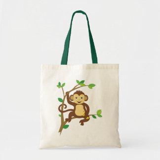 Cute Little Monkey Budget Tote Bag