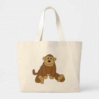 Cute Little Monkey Jumbo Tote Bag