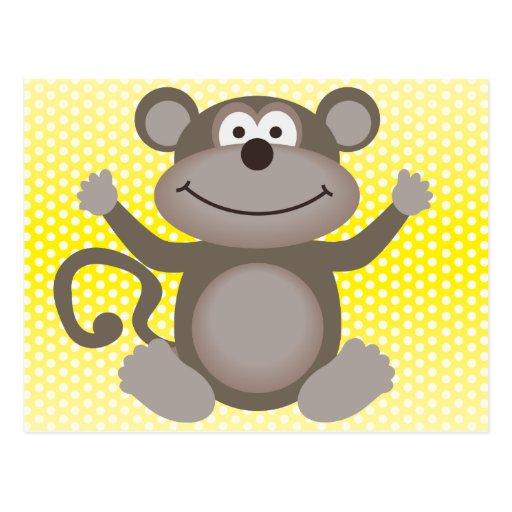 Cute Little Monkey Postcards