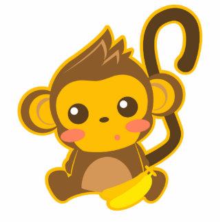 Cute Little Monkey Standing Photo Sculpture