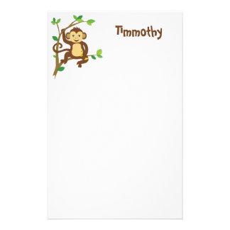 Cute Little Monkey Stationery