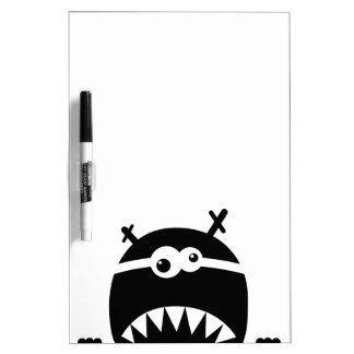 Cute little monster stencil dry erase boards