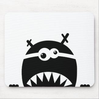 Cute little monster stencil mousepads