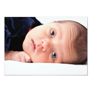 Cute Little Newborn Infant 9 Cm X 13 Cm Invitation Card
