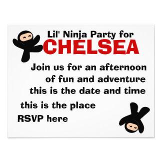 Cute Little Ninjas Personalized Invitation