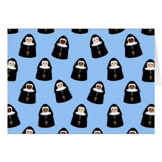 Cute Little Nuns Card