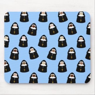Cute Little Nuns Mouse Mat
