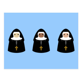 Cute Little Nuns Postcard
